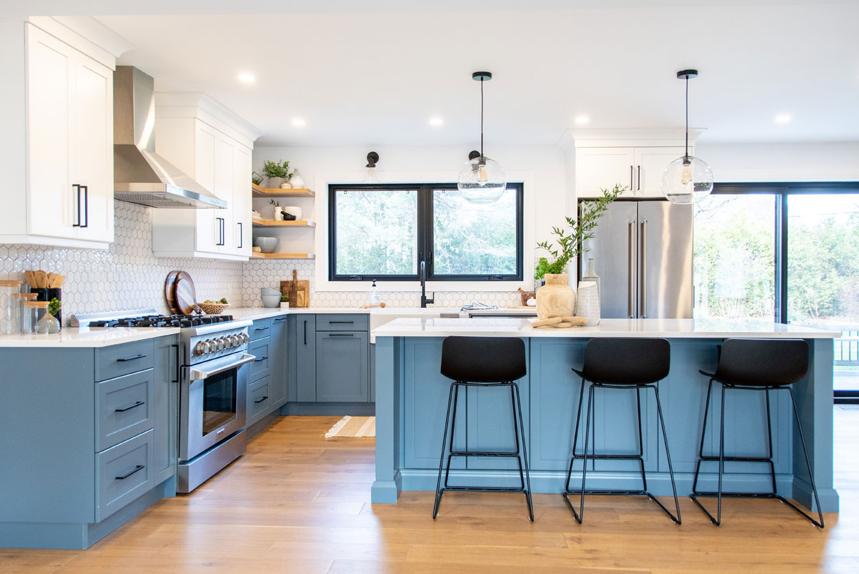 blue-modern-kitchen-marble-island